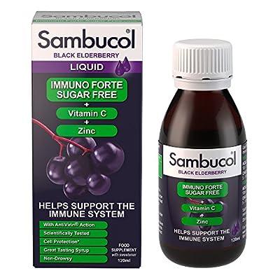 Sambucol Black Elderberry Immuno Forte Liquid, 140 g