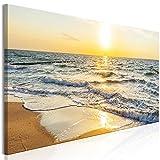 murando Cuadro en Lienzo Playa Mar 150x50 cm 1 Parte Impresión en Material Tejido no...