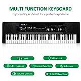 Immagine 1 sanlinkee tastiera pianoforte 61 tasti