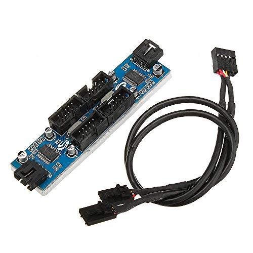 PYROJEWEL 9 Pines USB Conector Macho 1 a 4 Herramientas de extensión Femenino del Cable del Divisor 9 multiplicador de Puertos Junta de Tratamiento de la Madera Placa de Circuito