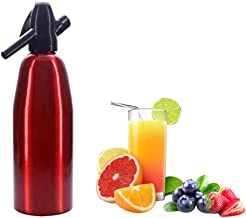 Fabricant De Siphon De Soude, Machine Portative De Boissons Gazeuses D'eau Gazeuse De Bouteille De Seltzer, 1L (rouge)