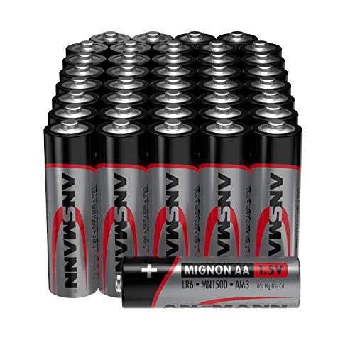 ANSMANN Batterien AA Alkaline Größe LR6 - AA Batterie für Spielzeug (40 Stück Vorratspack) Design kann abweichen