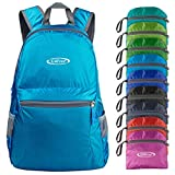G4Free 20L Ultra Lightweight Packable Backpack Travel Hiking Daypack Foldable Small (Blue)