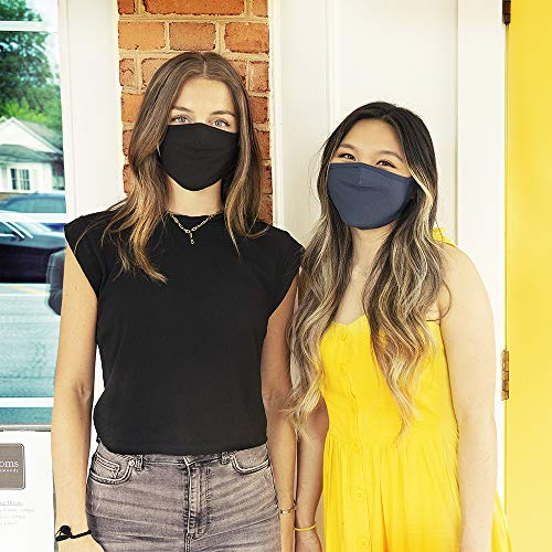 Safe+Mate x Case-Mate - Cloth Face Mask - Washable & Reusable - Adult L/XL - Cotton - with Filter - 3 Pack - Black/Navy/Gray