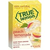 True Lemon Peach Lemonade Drink Mix, 0.106 Ounce - 10 per pack -- 12 packs per case.