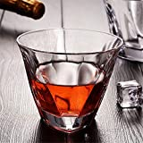 Home+ Vasos de Whisky En Forma de V Whisky de Cristal Ultra Claro Espesar como Cristal de Cerveza del Vino Brandy Bar Vasos Fiesta de la Boda Taza de consumición (Color : 200ml)