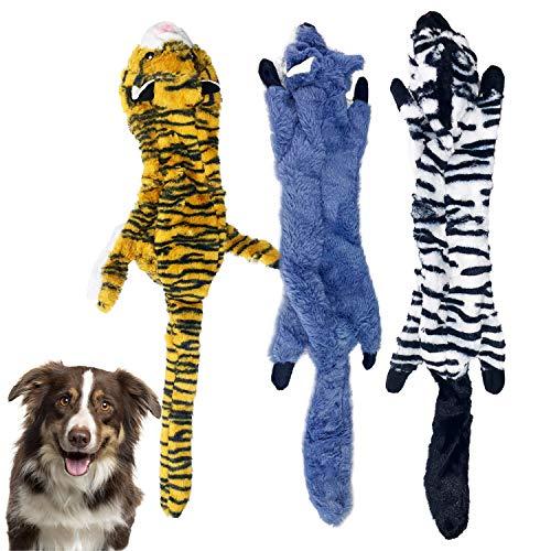 Xnuoyo 3 StüCk Quietschspielzeug FüR Hunde Keine FüLlung HundeplüSchtiere Langlebiges Hundekauspielzeug, Geeignet FüR Kleine, Mittlere Und Groß Hunde