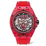 POLICE Reloj Translucent Auto 44MM Red Silicone Strap - PL.15924JPR-16P