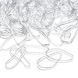 3 mm Gomas de Pelo Transparente Banda Elástica de Cabello, 500 Piezas