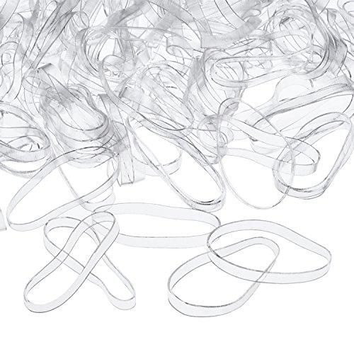 3 mm Klar Elastische Bänder Haar Gummibänder, 500 Stück