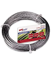 Cuydesa M86116G Cable acero galvanizado, 3 mm, Set de 15 Piezas