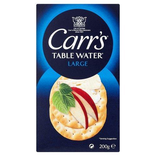 Carrs - Galletas de agua de mesa grande, 200 g