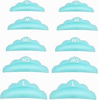 RICISUNG まつげパーマパッド (10枚入り) シリコン パッド まつ毛カール まつ毛エクステンション まつげパーマのパッド パーマカーラー 5サイズ対応
