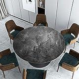 ZZFF Mantel de Vinilo Redondo, Impermeable PVC Protector de Mesa Patrón de mármol Cubierta de Mesa Vintage para Comedor Té Mesa de café Escritorio Pad-a Diámetro: 120 cm (47 Pulgadas)
