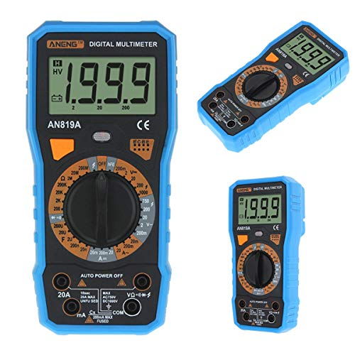 Why Choose AN819A Digital Multimeter 1999 Counts Backlight LCD Multimeter Voltmeter Ammeter AC DC Am...