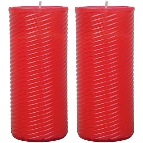 HS Candle grafkaars pak van 2 reservekaars N4 navulling rood 18 cm