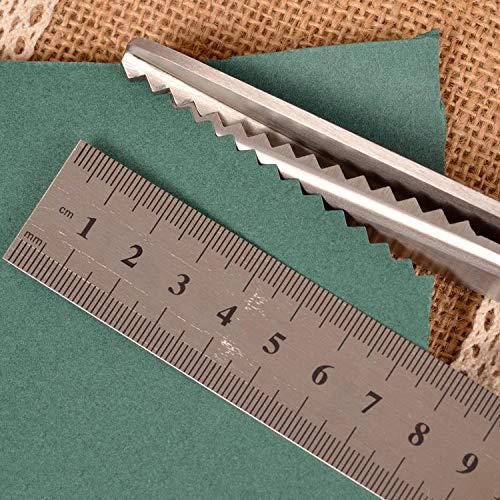 Tijeras profesionales de papelería en zigzag, para costura, costura, costura, costura, costura, costura, costura, costura, cuero, manualidades, tela, (color: triángulo, 5 mm)