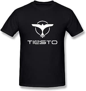 Ulongpoq Men's Tiesto Cotton T-Shirts Black