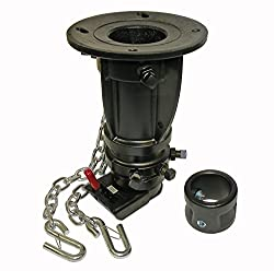 """12"""" to 16"""" Adjustable height Convert-a-ball Fifth Wheel to Gooseneck Cushioned Trailer Hitch Adapter / Converter"""