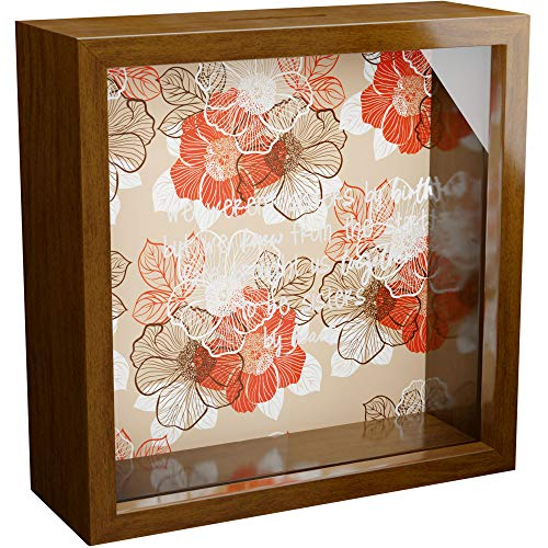 Sister in Law Gifts | 6x6x2 Glass Fronted Shadow Box | Wall Decor Gift for Sisters in Law | Wooden Keepsake Frame for Women | Unique Presents to Decorate Home | Collect Special Memories