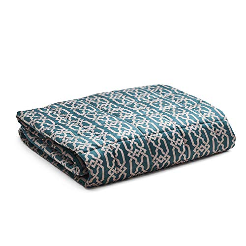 YnM Weighted Blanket — Heavy 100% Oeko-Tex Certified Minky Material with Premium Glass Beads (Infinite, 48