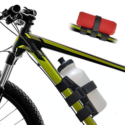 TOOVREN Bike Water Bottle Holder Upgraded Bike Speaker Holder Water Bottle Holder for Bike No Screws Golf Cart Speaker Mount Bicycle Strap for Anker JBL Charge Doss Great Gifts for Kids