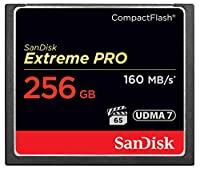 【256GB】 SanDisk/サンディスク コンパクトフラッシュ 160MB/s 1067倍速 UDMA7対応 海外リテール Extreme Pro SDCFXPS-256G-X46