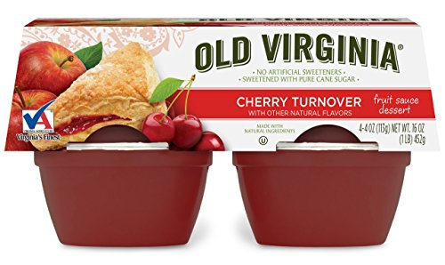 Old Virginia Fruit Sauce dessert, Cherry Turnover, 4 Ounce (Pack of 48)
