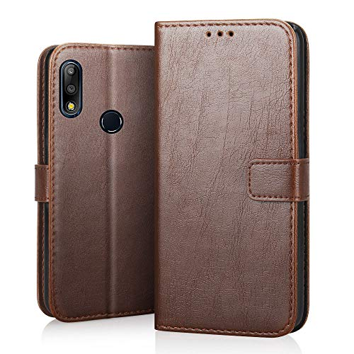 RIFFUE Asus Zenfone Max M2 Pro Hülle, Handyhülle Asus Zenfone Max Pro M2 ZB631KL Leder PU Vintage Schutzhülle Brieftasche Hülle Cover Standfunktion 6.26