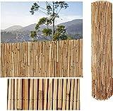 COMERCIAL CANDELA FELPUDOS Y ALFOMBRAS Cañizo de Bambu Pelado Privacidad Jardín Cerramiento (2_x_5_Metros)