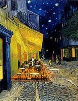 ゴッホ・「夜のカフェテラス」 プリキャンバス複製画・ ギャラリーラップ仕上げ(8号サイズ)