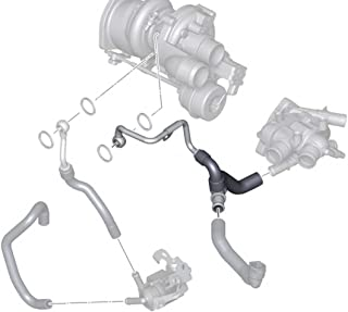 Mini Cooper S Factory Original Coolant Hose A N18 Turbo to Thermostat, Gen2 Clubman R55, Hardtop R56, Convertible R57, Coupe R58 and Roadster R59