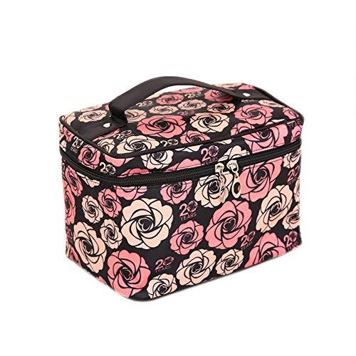 Monbedos Femme solide Couleur Portable Trousse de toilette de voyage Trousse de toilette de voyage Sac de beauté coloré