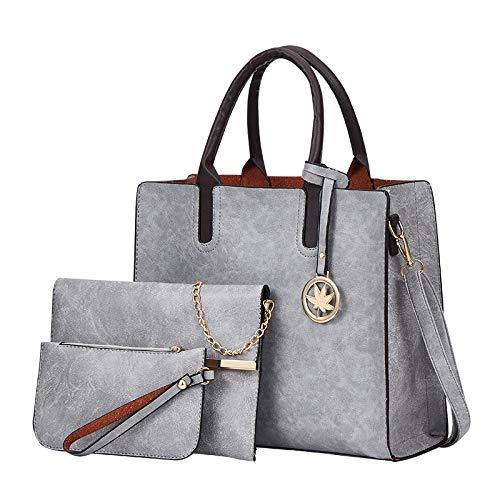 CMZ Backpack Student School Bag Female Bag Luggage Three-Piece Retro Handbag Simple and Versatile one-Shoulder Messenger Bag