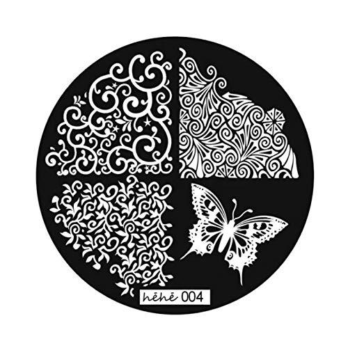 DIY Nail Art Bild Stempelplatten Maniküre-Vorlage 9 Stile Stempelplatten Maniküre-Vorlagen DIY-Platten-Kit (Silber) -BCVBFGCXVB
