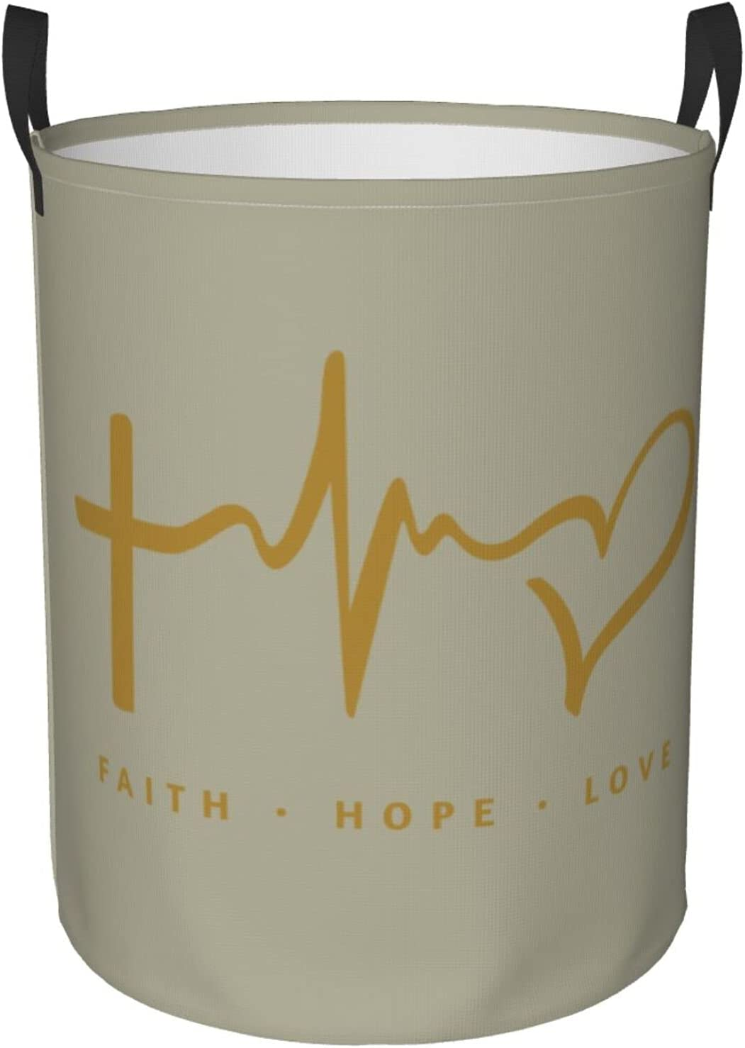Superior Faith Hope Love Max 76% OFF Freestanding Laundry Foldable Large Basket. Laun