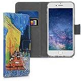 kwmobile Funda Compatible con Apple iPhone 6 / 6S - Carcasa de Cuero sintético Van Gogh - con Tarjetero