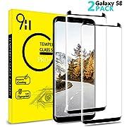 AAJO Galaxy S8 Panzerglas Schutzfolie, [2 Stück] HD-kla gehärtetes Glas Displayschutzfolie, Full Coverage/hüllenfreundlich/9H Härte/Anti-Fingerabdruck/Anti-Kratzen/Anti-Bläschen/für Samsung Galaxy S8