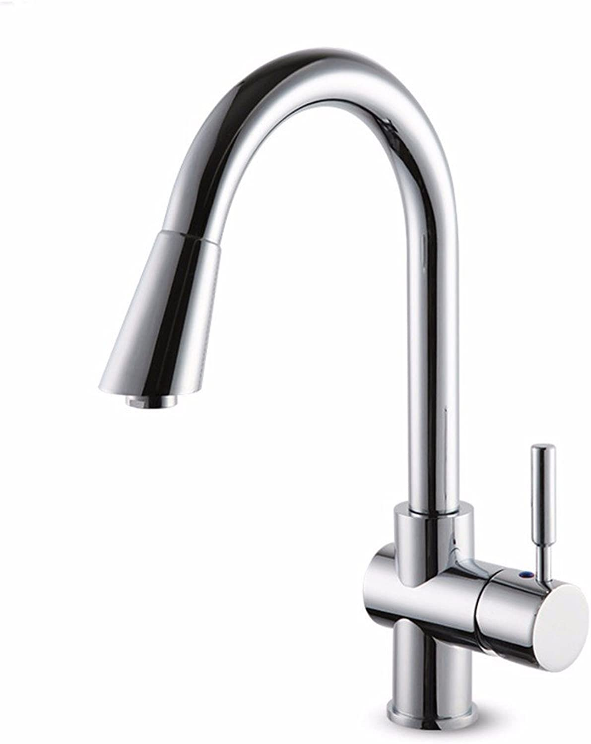 SJQKA-Hot and cold kitchen faucet, single single hole basin faucet, all copper sink faucet