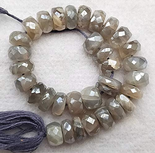 Spasm price GEMZ Natural 7 mm Mystic Gray Moonstone b Shape rondelle Topics on TV Faceted