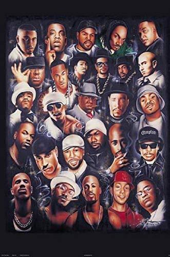 Hotstuff Laminated Rap Legends Print Music Poster 24x36