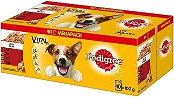 Nourriture pour chien Pedigree Vital Protection à base de poulet, bœuf, volaille et agneau, (40 x 100 g)