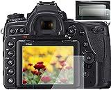 Protector de pantalla compatible con Nikon D780 D750 TOP y pantalla LCD (2+2 paquetes), KOMET película protectora de vidrio templado antiburbujas, antihuellas, antiarañazos, antipolvo, antiarañazos.