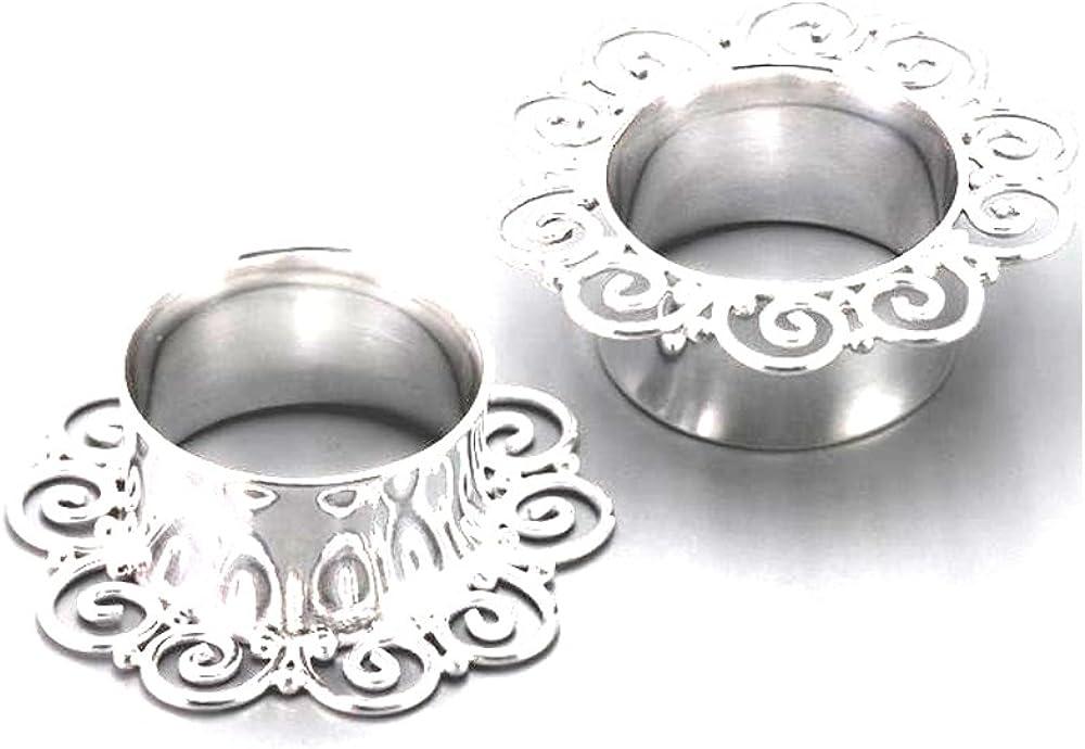 Elementals Organics .925 Sterling Special Campaign Silver Plug Some reservation Filigree D 6 # FSP