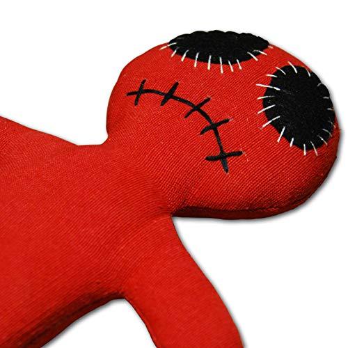 Dead Eye Doll red - Voodoo Puppe mit Nadel und Ritual-Anleitung