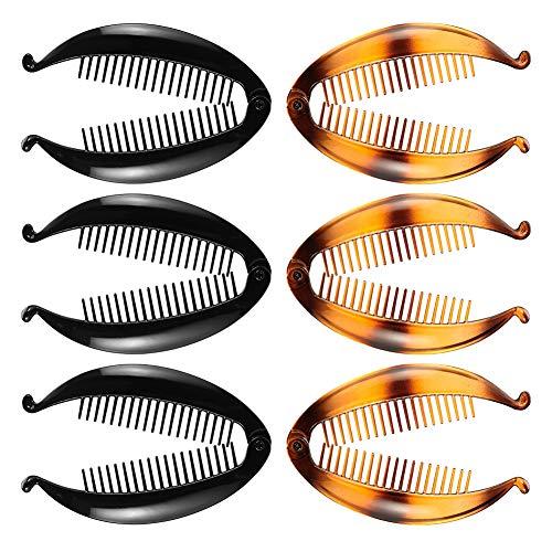 Firtink 6 Stücke Bananen Clips Bananen-Haarspange Fischform Haarspange Bananen Fisch Kämme