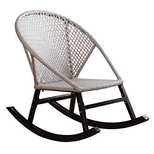 Mecedora de ratán, Silla de jardín de Gravedad Cero, sillón reclinable Impermeable y Transpirable con protección UV para el hogar, jardín al Aire Libre,Blanco