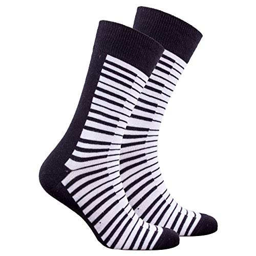 Socks n Socks-Men's Luxury Cotton Colorful Funky Piano Socks