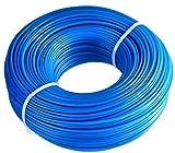 HET 1.6mm X 100m Strimmer Líneas, Línea de Corte de Hierba de Servicio Pesado Desbrozadora Cuerda Redonda de Nylon para Garden Grass Strimmer Electric (azul)