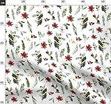 Weihnachten, Aquarell Blumen, Blumenmotiv, Blumen, Rot Und